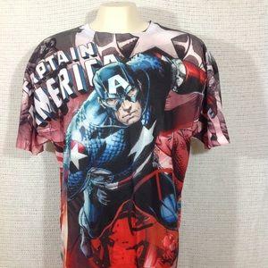 Marvel Captain America Sublimation T Shirt